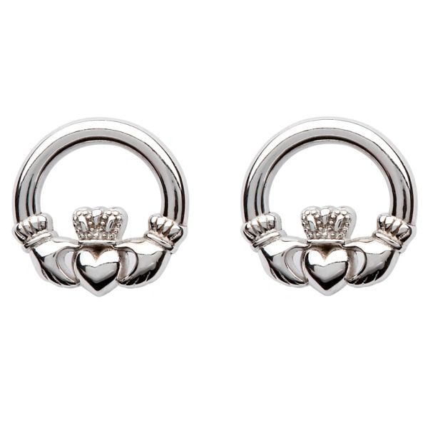 Earrings - Claddagh Stud - Sterling - Shanore SE2119