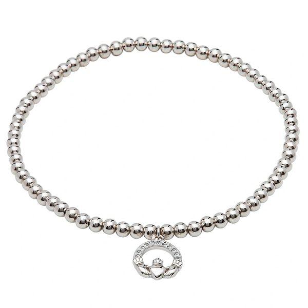 Bracelet - Claddagh Charm - Swarovski Crystals - Shanore SW68