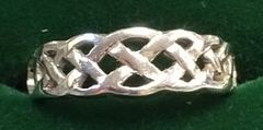 Ring - Celtic Band - Wedding - Cara Irish - 14ct WG - Size 6 1/2
