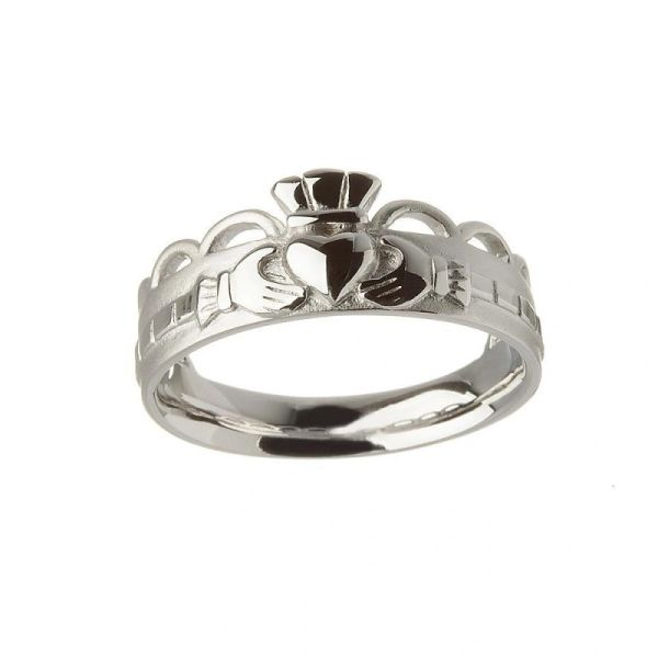 Ring - Band - Claddagh - Sterling - Brou BCLAD110