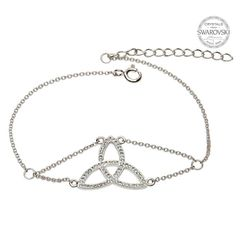 Bracelet - Trinity- Sterling - White Swarovski Crystals - Shanore SW44