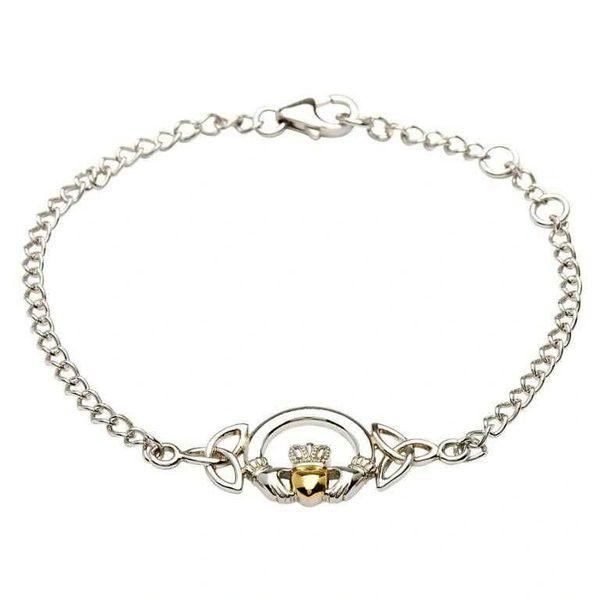 Bracelet - Sterling & 14ctGP - Claddagh - Shanore #SB2015