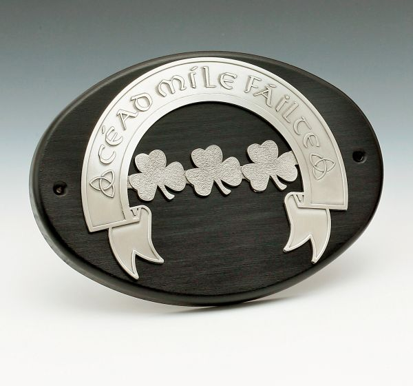 Plaque Cead Mile Failte Mullingar Pewter P234 Made in Ireland