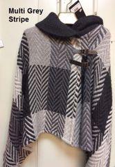 Poncho - Shawl Collar - Branigan Weavers