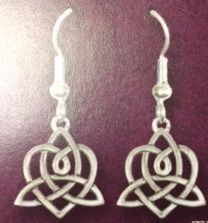 Earrings - Bridget's Heart - Sterling - Made in USA