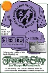 T-Shirt - RESCUED is my Favorite Breed portion benefits local shelter