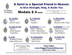 Saint Medal - oxidized