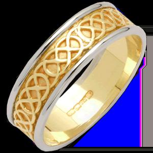 Ring - Wedding Celtic Band - 14ct - Size 10 - Fado #R151