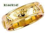 Wedding Band - Claddagh Celtic Ring - Size 7 - Fado #R144