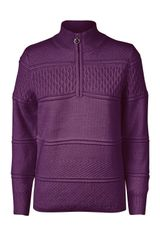 Daily Sports Ladies Gabby Quarter Zip Neck Lined L/S Sweater - 863/511