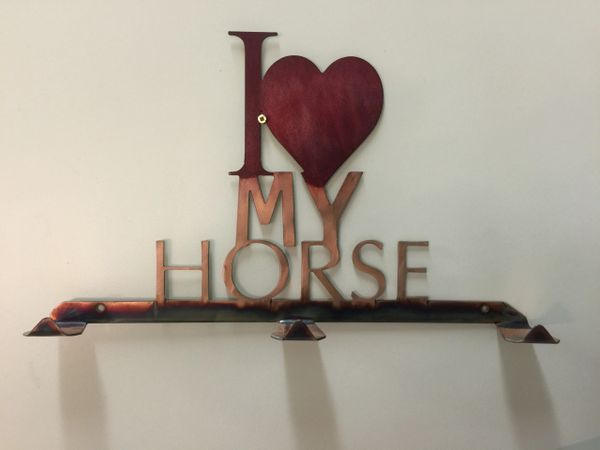 I Love my Horse hanger, with hooks