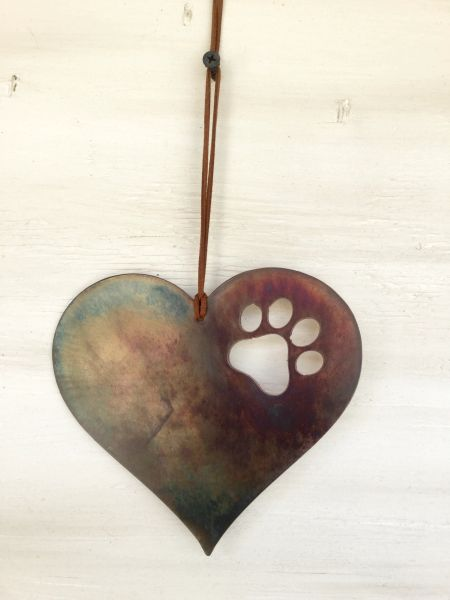 Heart with pawprint