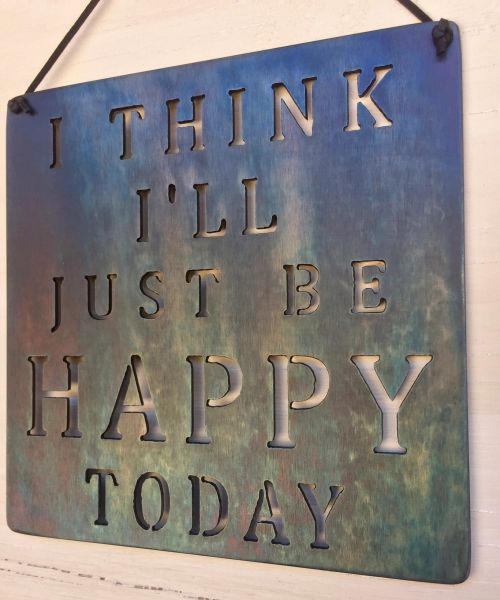 "Quote series- ""I think Ill just be happy today"""