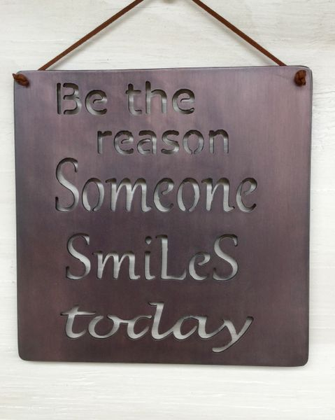 "Quote Series- ""Be the reason someone smiles today"""
