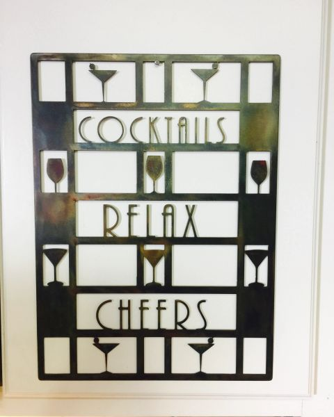 Cocktails Bar sign