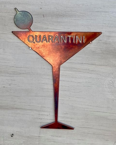 "Quarantine Collection-""Quarantini ""Martini Glass"