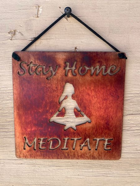 "Quarantine Collection-""Stay Home Meditate"" with yoga girl"