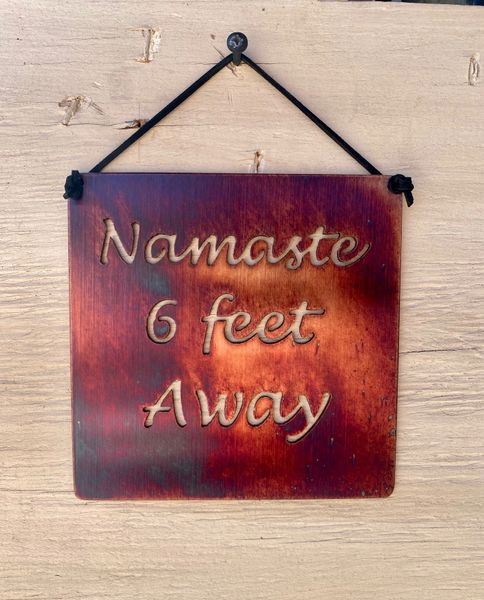 "Quarantine Collection-""Namaste six feet Away"""