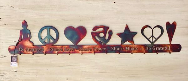 "Hanger-""Be Inspired~Share Love~Share Peace~Share Music~Be Grateful"""
