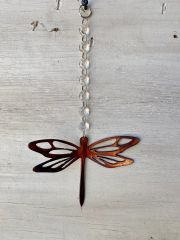 Hanging-Dragonfly dropped from a crystal strand