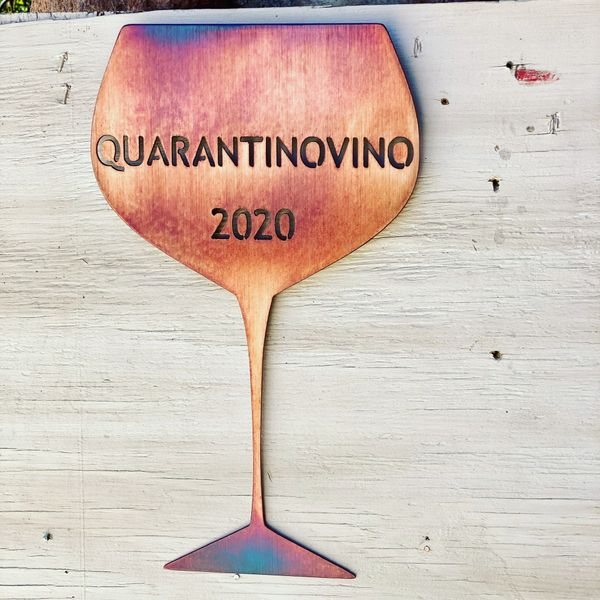 "Quarantine Collection-""Quarantinovino 2020"" Wine Glass"