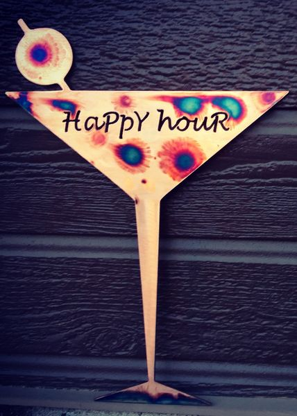 Martini Glass- Happy Hour or Twilight Lounge