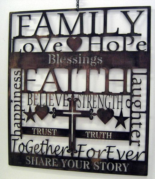 Family Sign- Faith