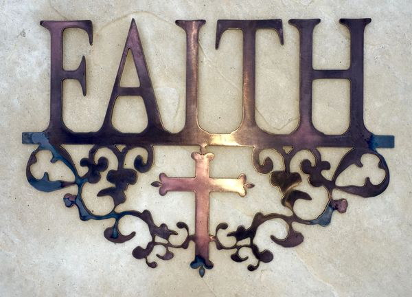Faith - Filigree and cross