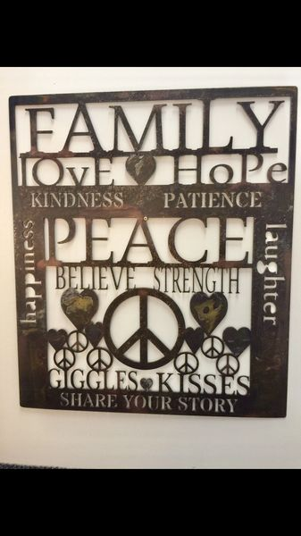 Family sign- Peace