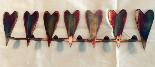 Hearts hanger with hooks