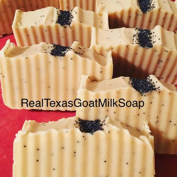 Lemon Poppy seed goat milk soap