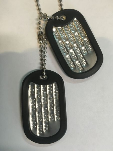 dog tags with silencers custom debossed stainless steel U.S