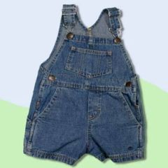 Baby and Toddler Denim Bib Overall Shorts