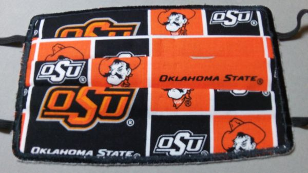 Oklahoma State & Pistol Pete Face Mask