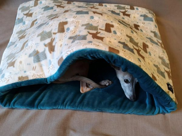 Grey Dog Design Snuggle Wrap Dog Beds - Sherpa / Faux Fur Lined