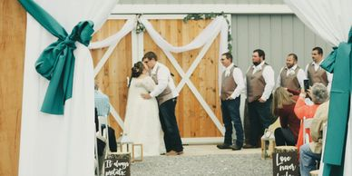 The perfect October outdoor ceremony with indoor reception
