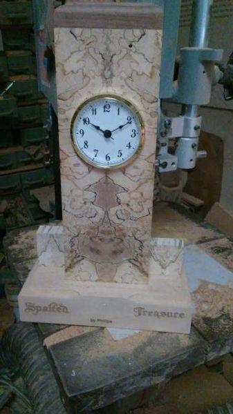 Unique Spalted Maple Clock