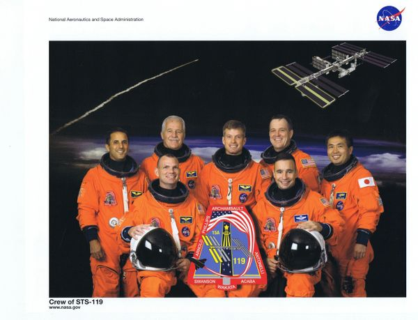 STS-119 Crew Lithograph **FREE SHIPPING** w/ Book Purchase