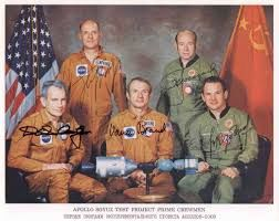 VERY RARE - Apollo Soyuz Crew Original Signed Lithograph