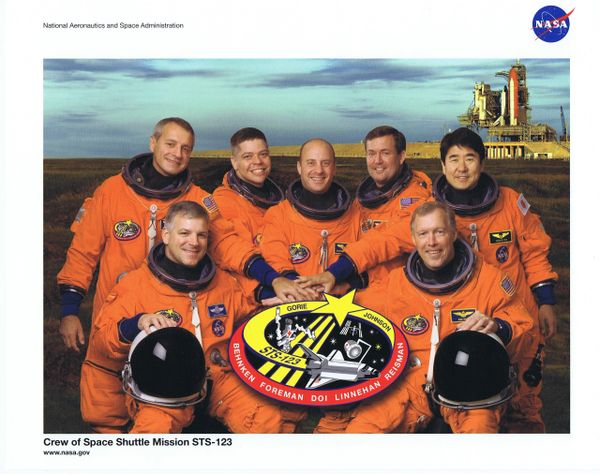 STS-123 Crew Lithograph ** FREE SHIPPING** w/ Book Purchase