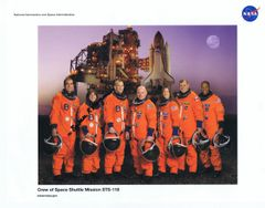 STS-118 Crew Lithograph **FREE SHIPPING** w/ Book Purchase