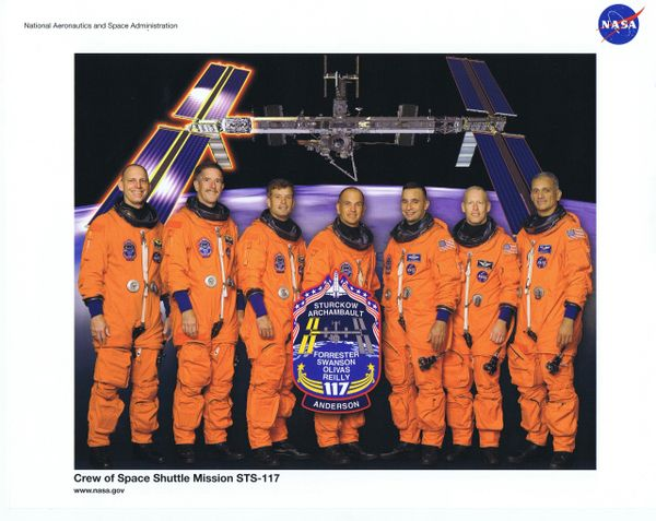 STS-117 Crew Lithograph **FREE SHIPPING**w/ Book Purchase