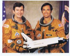 STS-1 Crew Lithograph **Free Shipping**