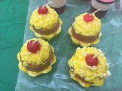 Candle Shortcake. Mini Lemon Shortcake Stack Set of 2 Cakes