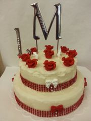 Double Layer Candle Cake. Roses are Red Maggie Linton