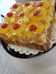 Candle Pineapple Upside Down Cake