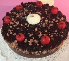 Candle Cake 6 inch Round Chocolate Cherry