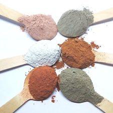 CLAYS | Bentonite | Dead Sea | Kaolin | Calcium Carbonate (chalk powder)
