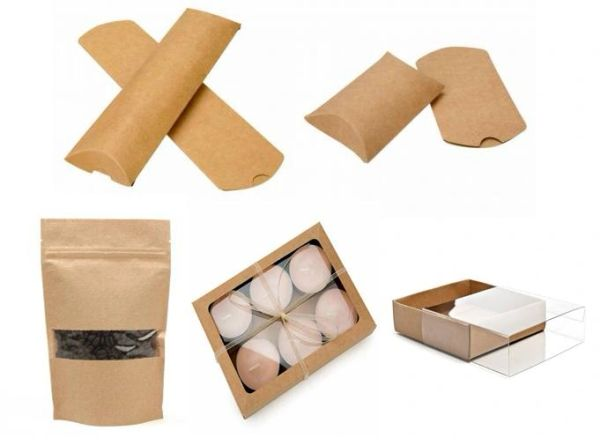 Kraft Packaging | Pillow Boxes | Pouches | Boxes | Lip Balm Display