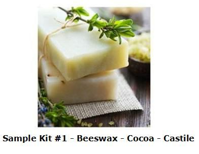 COLD PROCESS SOAP SAMPLER KIT #1 - BEESWAX, COCOA BUTTER, AND CASTILE